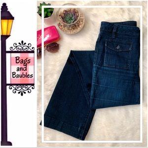 TORY BURCH Dark Denim Jeans, Sz 28